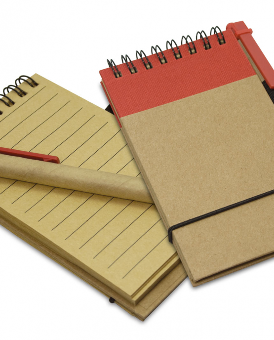 libreta de notas pequeña marcada