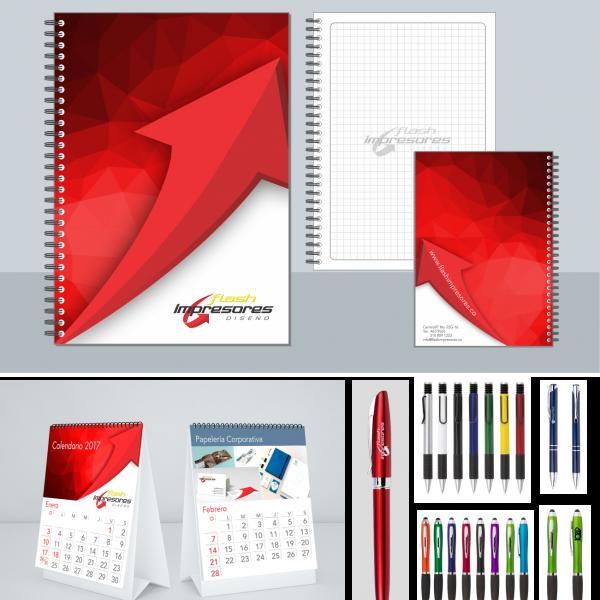 kit promocional cuaderno y esfero corporativo