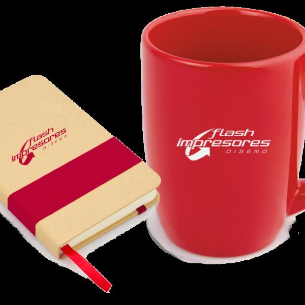 Libreta Marcada y Mug con Logo